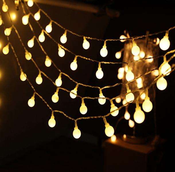 Dây đèn sao Dây đèn bi 3m trang trí cực đẹp tặng kèm pin - 3